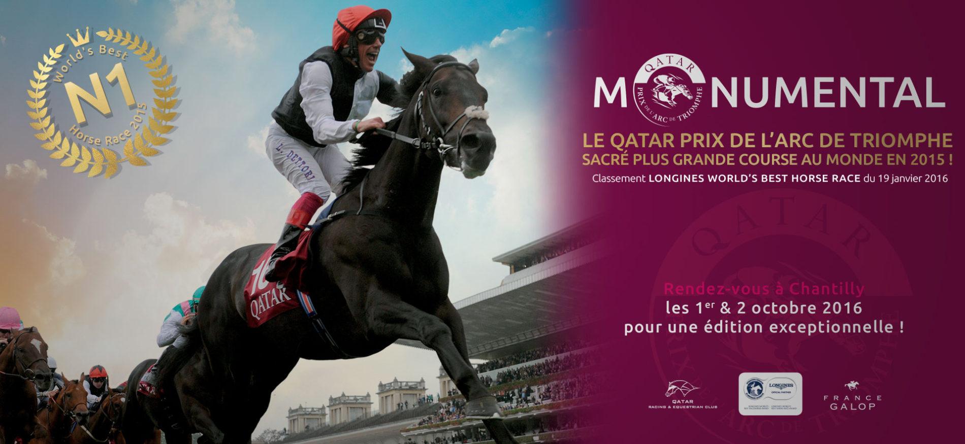 Prochaine Edition du Prix du Qatar Arc de Triomphe à Chantilly