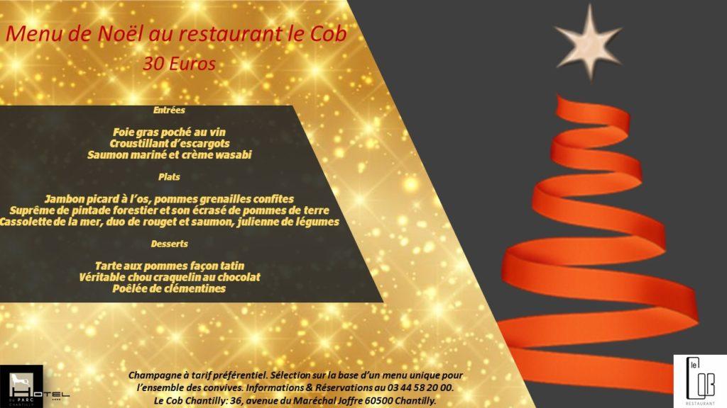 Menu de Noël à 30 euros