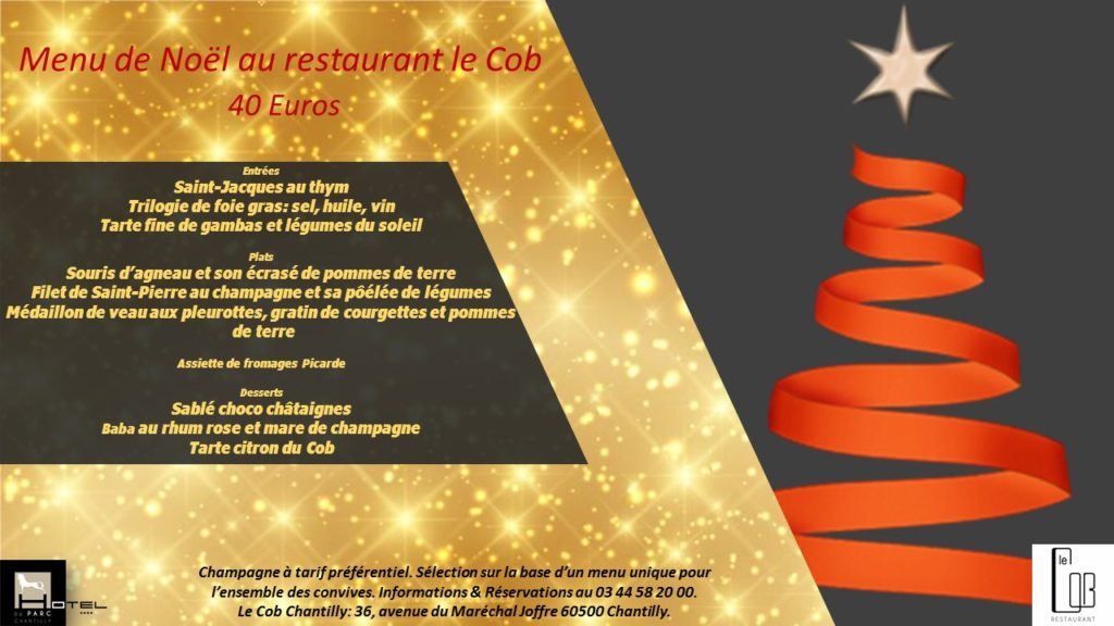 Menu de Noël à 40 euros